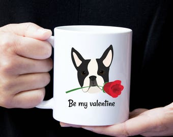 Personalized Boston Terrier Mug, Boston Terrier Coffee Mug, Boston Terrier Mug, Boston Terrier Love Mug, Dog Love Mug, Boston Terrier Mug