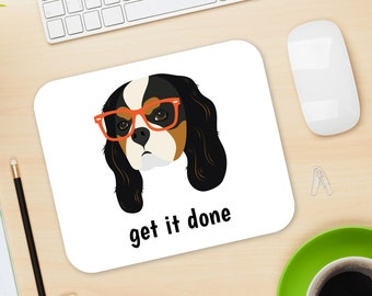 Personalized Cavalier King Charles Spaniel Mouse Pad, Cavalier Mouse Pad, Custom Dog Mouse Pad, Cavalier Mousepads, Dog, Cavalier Mouse Pad