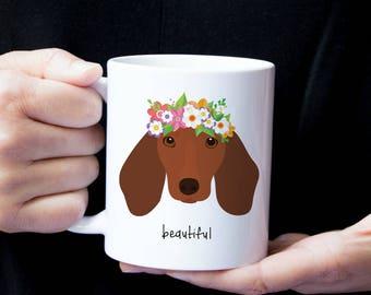 Personalized Dachshund Mug, Dachshund Mug, Custom Dachshund Mug, Dachshund Coffee Mug, Wiener Dog Mug, Dachshund Coffee Cup, Sausage Dog Mug