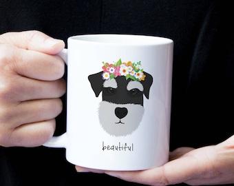 Personalized Schnauzer Mug, Schnauzer Coffee Mug, Schnauzer Mug, Dog Mug, Sliver Schnauzer Mug, Custom Schnauzer Gifts, Schnauzer Gifts, Dog