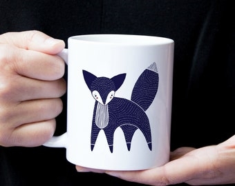 Personalized Fox Mug, Customized Fox Mug, Fox Coffee Cup, Custom Fox Gifts, Fox Coffee Mug, Foxy Coffee Mug, Fox Cup, Fox, Fox Coffee Mug