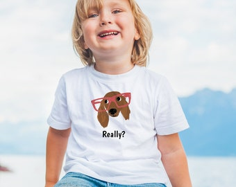 Personalized Dachshund Toddler T-shirt, Dachshund Toddler Tee, Custom Dachshund T-shirt for Kids, Toddler Dog Tee, Dog, Dachshund Kids Tee