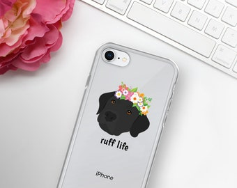 Personalized Labrador Retriever iPhone Cases, Lab Dog Phone Case, Custom Dog iPhone Case, iPhone 7, 8 and 7, 8 Plus Cases, Lab iPhone X Case