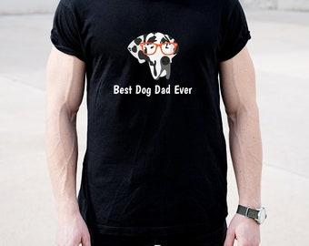 Personalized Great Dane Short-Sleeve Unisex T-Shirt, Great Dane T-shirt, Custom Dog T-shirt, Dog Dad, Dog T-shirt, Best Dog Dad Ever T-shirt