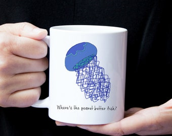 Personalized Jellyfish Mug, Jellyfish Coffee Mug, Jellyfish Mug, Jellyfish Mugs, Jellyfish Cup, Jellyfish Coffee Cup,Fish Mug,Jellyfish Gift