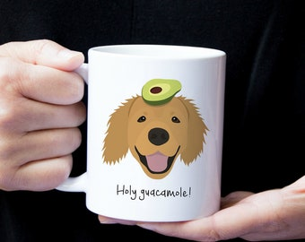 Personalized Golden Retriever Mug, Golden Retriever Coffee Mug, Customized Golden Retriever Mug, Custom Dog Mug, Golden Retriever Coffee Cup