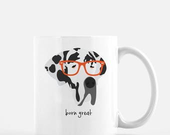 Personalized Great Dane Mug, Great Dane Coffee Mug, Great Dane Gifts, Dog Mug, Great Dane with Glasses, Customized Great Dane Mug,Great Dane