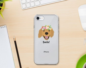 Personalized Golden Retriever iPhone Cases, Retriever Phone Case, Custom Dog iPhone Case, iPhone 7, 8 and 7, 8 Plus Cases, Dog iPhone X Case
