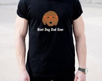 Personalized Goldendoodle Short-Sleeve Unisex T-Shirt, Goldendoodle T-shirt, Custom Dog T-shirt, Dog Dad T-shirt, Best Dog Dad Ever T-shirt
