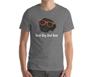 Personalized Labrador Retriever Short-Sleeve Unisex T-Shirt, Labrador T-shirt, Custom Dog T-shirt, Lab Dog T-shirt,Best Dog Dad Ever T-shirt