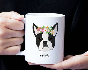 Mugs - Dog with Flower