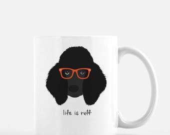 Personalized Poodle Mug, Poodle Coffee Mug, Poodle Gifts, Black Poodle, Customized Poodle Mug, Poodle Cup, Dog with Glasses, Dog, Poodle Mug
