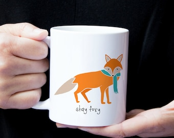 Personalized Fox Mug, Fox Coffee Mug, Fox Mug, Fox Coffee Cup, Custom Fox Gifts, Fox Coffee Mug, Foxy Coffee Mug, Fox Cup, Fox,Stay Foxy Mug