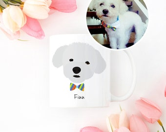 Custom Dog Mug, Custom Pet Mug, Custom Pet Drawing, Pet Portrait, Dog Mug, Personalized Dog Mug, Custom Dog Illustration, Custom Dog Mug