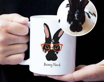 Custom Bunny Mug, Custom Pet Mug, Custom Pet Drawing, Pet Art, Bunny Mug, Personalized Bunny Mug, Custom Bunny Art,Custom Bunny Illustration