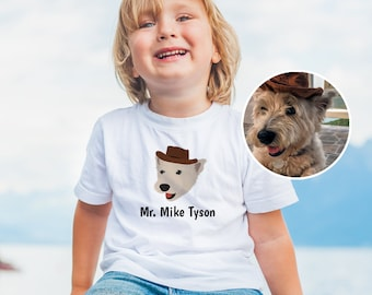Custom Dog Toddler T-shirt, Custom Design Toddler Tee, Custom T-shirt for Kids, Personalized Dog Tee, Dog Portrait, Custom Toddler Dog Tee