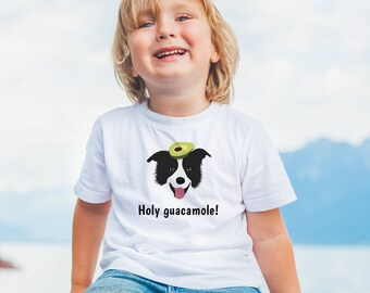 Personalized Border Collie Toddler T-shirt, Border Collie Toddler Tee, Custom Border Collie T-shirt for Kids, Toddler Dog Tee, Kids Dog Tee