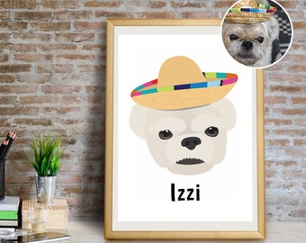 Custom Dog Art Print, Custom Dog Wall Art, Custom Dog Wall Decor, Custom Dog Decor, Custom Pet Giclée Print, Custom Dog Portrait Art Print