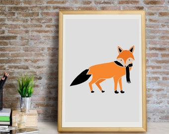Fox Art Print, Fox Wall Art, Fox Wall Decor, Fox Giclée Print, Fox Decor, Fox Nursery Art, Fox Art, Fox Print, Fox, Fox Gifts, Fox Art Print