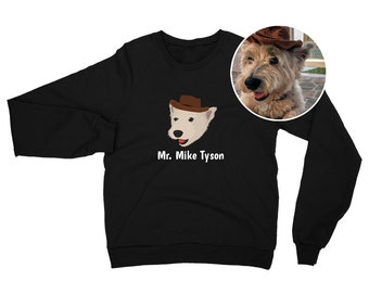 Custom Dog Sweatshirt, Custom Pet Sweatshirt, Custom Dog Hoodie, Dog Portrait Design, Best Dog Mom Sweatshirt, Custom Dog Mom Sweatshirt