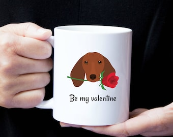 Personalized Dachshund Mug, Dachshund Mug, Brown Dachshund Mug, Dachshund Coffee Mug, Wiener Dog Mug,Sausage Dog Mug, Dachshund Love Mug