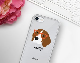 Personalized Beagle iPhone Cases, Beagle Phone Case, Beagle, Custom Dog iPhone Case, iPhone 7, 8 and 7, 8 Plus Cases, Beagle iPhone X Case