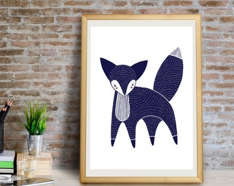 Fox Art Print, Fox Wall Art, Fox Wall Decor, Fox Giclée Print, Fox Decor, Fox Nursery Art, Fox Art, Fox Print, Fox, Fox Gifts, Fox Art Print