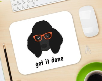 Personalized Poodle Mouse Pad, Poodle Mouse Pad, Custom Dog Mouse Pad, Black Poodle Mousepads, Poodle Desk Decor, Poodle Mouse Pad, Poodle