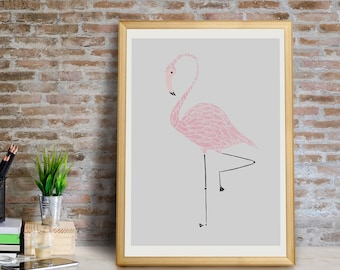 Flamingo Art Print, Flamingo Wall Art, Flamingo Wall Decor, Flamingo Giclée Print, Flamingo Nursery Art, Flamingo Print, Flamingo Art Print