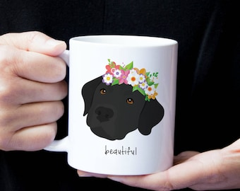 Mugs - Dog with Flower