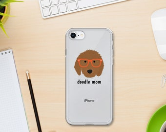 Personalized Goldendoodle iPhone Cases, Doodle Phone Case, Custom Dog iPhone Case, iPhone 7, 8 and 7, 8 Plus Cases, Doodle Mom iPhone X Case