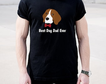 Personalized Beagle Short-Sleeve Unisex T-Shirt, Beagle T-shirt, Custom Dog T-shirt, Beagle Dad, Dog T-shirt, Best Dog Dad Ever T-shirt