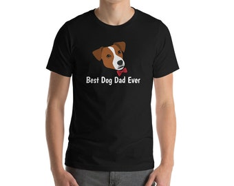 Personalized Jack Russell Terrier Short-Sleeve Unisex T-Shirt, Jack Russell Terrier T-shirt, Custom Dog T-shirt, Best Dog Dad Ever T-shirt