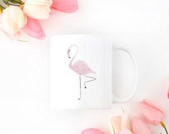 Personalized Flamingo Mug, Customized Flamingo Mug, Personalized Flamingo Gift, Flamingo Gifts, Bird Mug, Flamingo Cup, Flamingo Coffee Mug