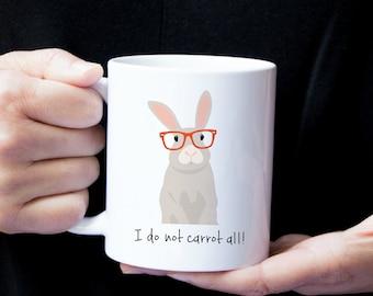 Personalized Bunny Mug, Bunny Coffee Mug, Bunny Mug, Rabbit Mug, Bunny with Glasses Mug, Bunny Coffee Cup, Rabbit Gift, Rabbit Coffee Mug