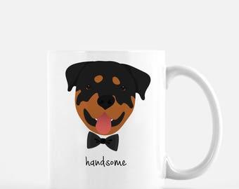 Personalized Rottweiler Mug, Rottweiler Coffee Mug, Rottweiler Gifts, Rottweiler, Customized Rottweiler Mug, Rottweiler Cup, Rottweiler Mug