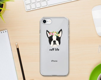 Personalized Boston Terrier iPhone Cases, Boston Terrier Phone Case, Custom Dog iPhone Case, iPhone 7, 8 and 7, 8 Plus Cases, iPhone X Case