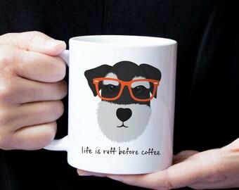 Personalized Schnauzer Mug, Schnauzer Coffee Mug, Schnauzer Mug, Dog Mug, Sliver Schnauzer Mug, Best Friends Dog Coffee Cup, Schnauzer Gifts