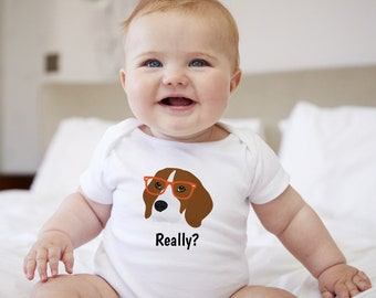 Personalized Beagle Baby One-piece, Beagle Baby Bodysuit, Custom Dog One-piece, Custom Beagle Bodysuit, Dog Infant Bodysuit, Dog Baby Cloth