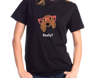 Personalized Dachshund Short-Sleeve Unisex T-Shirt, Dachshund T-shirt, Custom Dog T-shirt, Dachshund, Dog T-shirt, Best Dog Mom Ever T-shirt