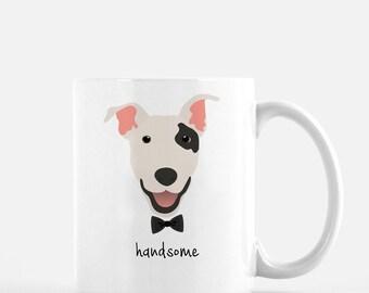 Personalized Bull Terrier Mug, Bull Terrier Coffee Mug, Bull Terrier with Bow Tie Mug, Dog Mug, Bull Terrier Coffee Cup, Custom Bull Dog Mug