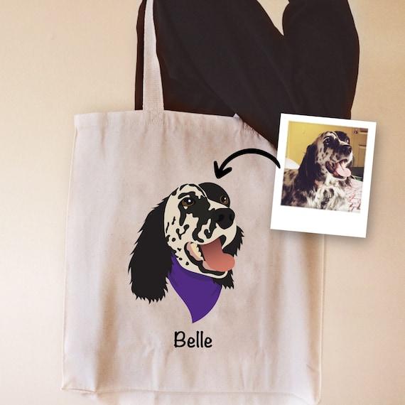 Dog Gift Pet Canvas Tote Bag Dog Shopping Bag Custom Dog Bag Custom Tote Bag Customized Bag