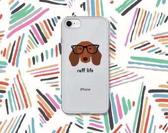 Personalized Dachshund iPhone Cases, Dachshund Phone Case, Custom Dog iPhone Case, iPhone 7, 8 and 7, 8 Plus Cases, Dachshund  iPhone X Case
