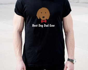 Personalized Goldendoodle Short-Sleeve Unisex T-Shirt, Goldendoodle T-shirt, Custom Dog T-shirt, Doodle T-shirt, Best Dog Dad Ever T-shirt