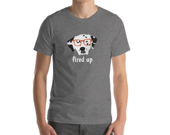 Personalized Dalmatian Short-Sleeve Unisex T-Shirt, Dalmatian T-shirt, Custom Dog T-shirt, Dalmatian, Dog T-shirt, Best Dog Dad Ever T-shirt