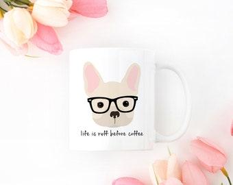 Personalized French Bulldog Mug, French Bulldog Coffee Mug, French Bulldog Mug, Dog Mug, Hipster Dog Mug, Frenchie Coffee Mug, Frenchie