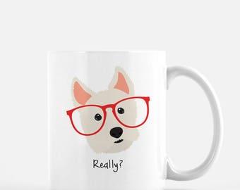 Personalized West Highland White Terrier Mug, Customized Westie Gift, Westie Mug, Westie Gifts, Westie Mug, Westie Cup, Westie Coffee Mug