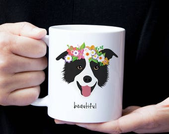 Personalized Border Collie Mug, Border Collie Coffee Mug, Border Collie Coffee Cup, Border Collie Cup, Border Collie Gift, Border Collie Mug