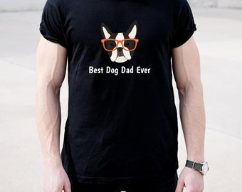 Personalized Boston Terrier Short-Sleeve Unisex T-Shirt, Boston Terrier T-shirt, Custom Dog T-shirt, Dog T-shirt, Best Dog Dad Ever T-shirt