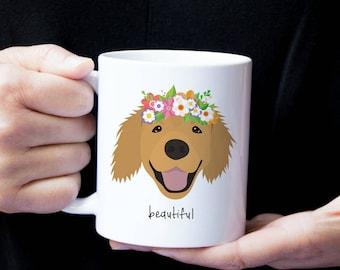 Personalized Golden Retriever Mug, Golden Retriever Coffee Mug, Custom Golden Retriever Mug, Dog Mug, Golden Retriever Cup, Golden Retriever